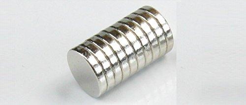 最強U-MAG ネオジウム ネオジム 磁石 N40 5mm × 0.8mm 10個 1個でA3コピー用紙5枚 マグネットブレーキ ア...