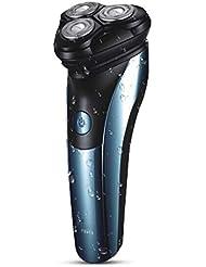回転式 ひげそり 電動 メンズシェーバー,充電式 IPX7防水 髭剃り 電気シェーバー 2019最新版 LEDディスプレイ 持ち運び便利 電気シェーバー お風呂剃り丸洗い可