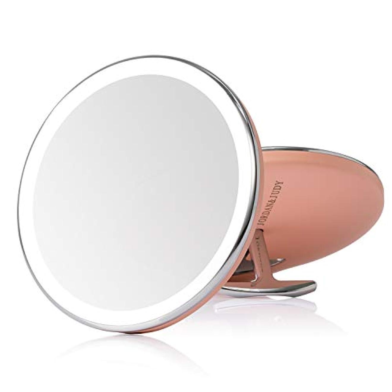 けがをするインタネットを見るバッチ化粧鏡 女優ミラー led ミラー led付き USB充電式 明るさ調節可能 持ち運び 外出 旅行用 通勤用 便利 携带ミラー プレゼント