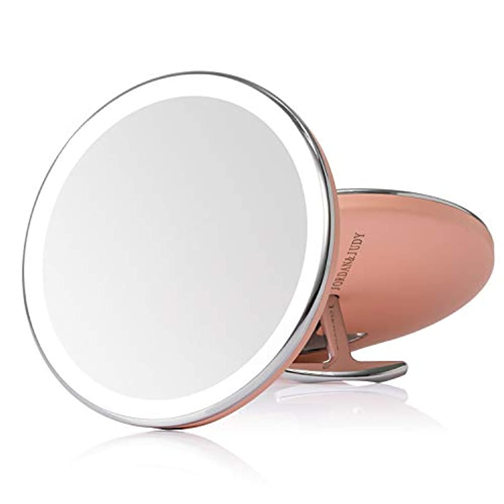 しかしながら荒らす混合した化粧鏡 女優ミラー led ミラー led付き USB充電式 明るさ調節可能 持ち運び 外出 旅行用 通勤用 便利 携带ミラー プレゼント