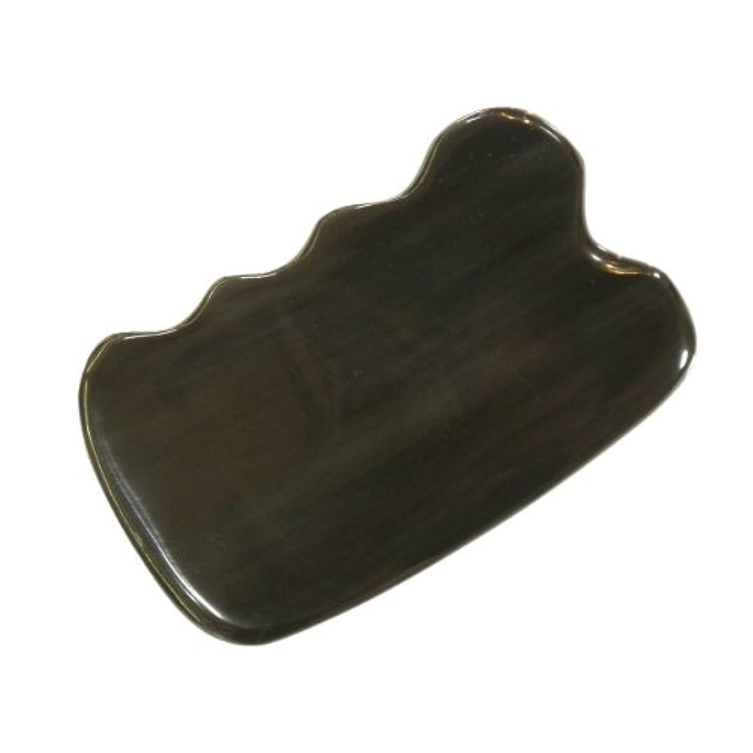 眼姉妹変装したかっさ プレート 厚さが選べる ヤクの角(水牛の角) EHE271SP 四角波 特級品 標準(6ミリ程度)