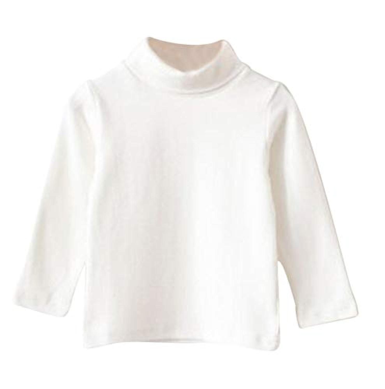 Plus Nao(プラスナオ) 子供用 カットソー タートルネック ハイネック 長袖 シンプル 無地 男の子 女の子 キッズ ジュニア 110 120 130 140