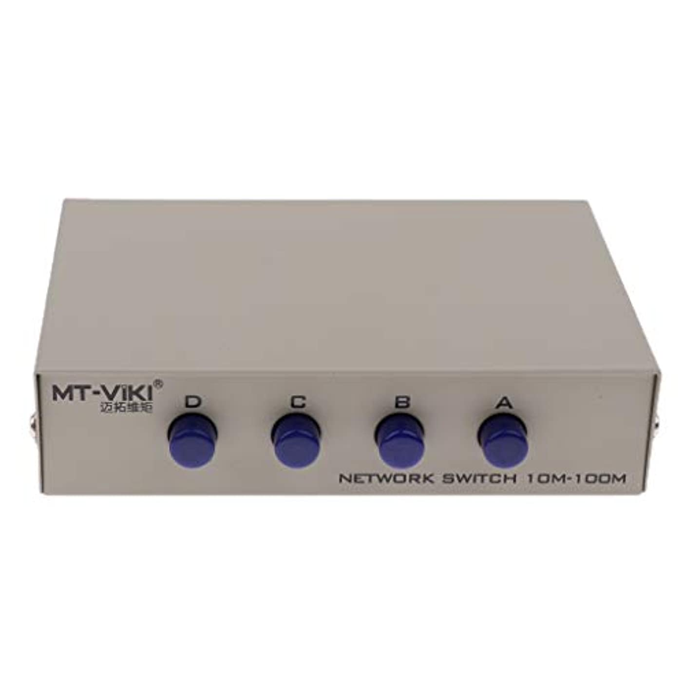 理論かき混ぜるアヒルH HILABEE 4ポート A手動ネットワーク共有スイッチボックス 4IN1 1IN4 RJ45イーサネットスイッチャー 産業用