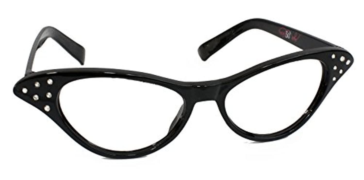 [ヒップホップ50sショップ]Hip Hop 50s Shop Cateye Glasses Child/Youth, Black [並行輸入品]