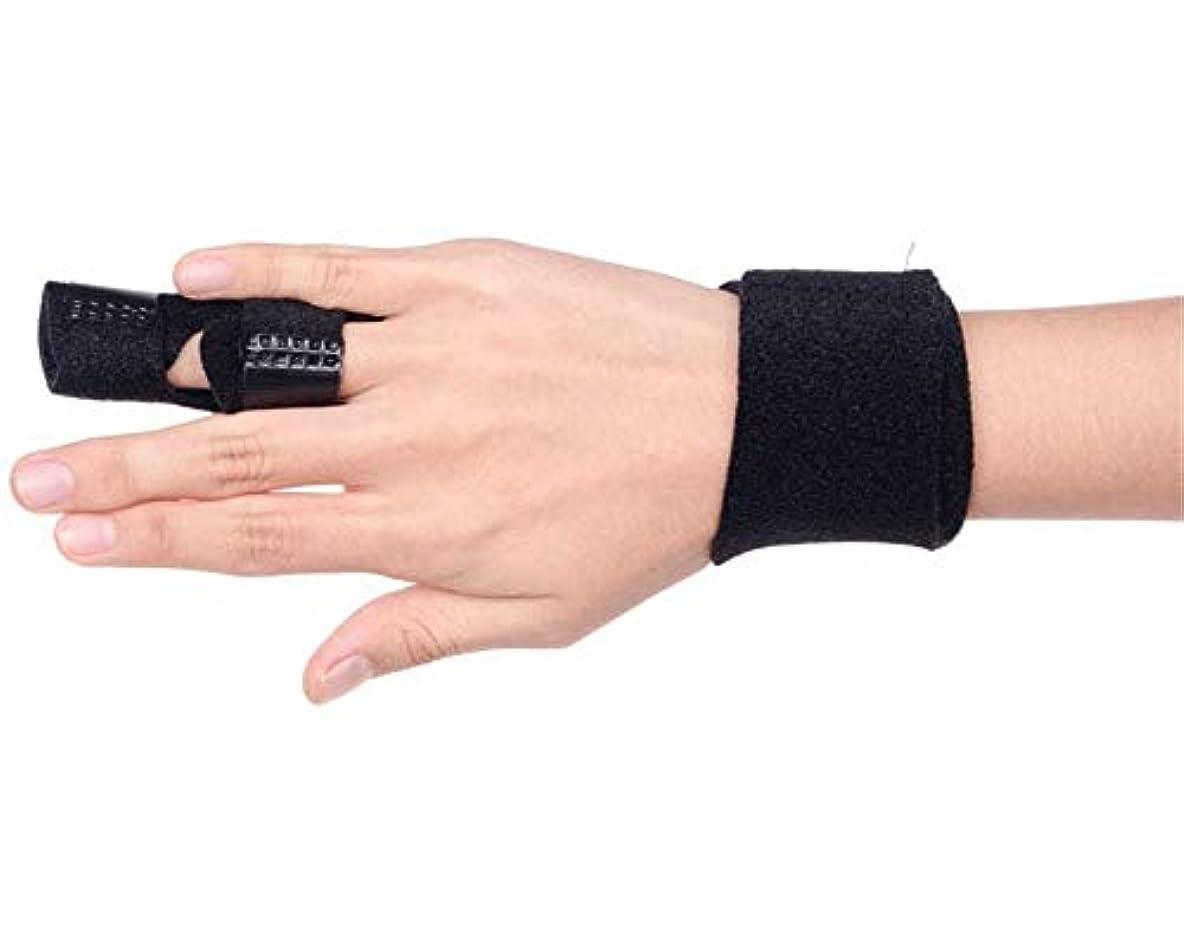 アクセシブルオンエンゲージメント調節可能な定着ベルトリリースし、痛みを軽減するFingerboardseparator - 中指、薬指、人差し指ブレースのためのフィンガースプリント-Fingerインソールフィンガースプリント