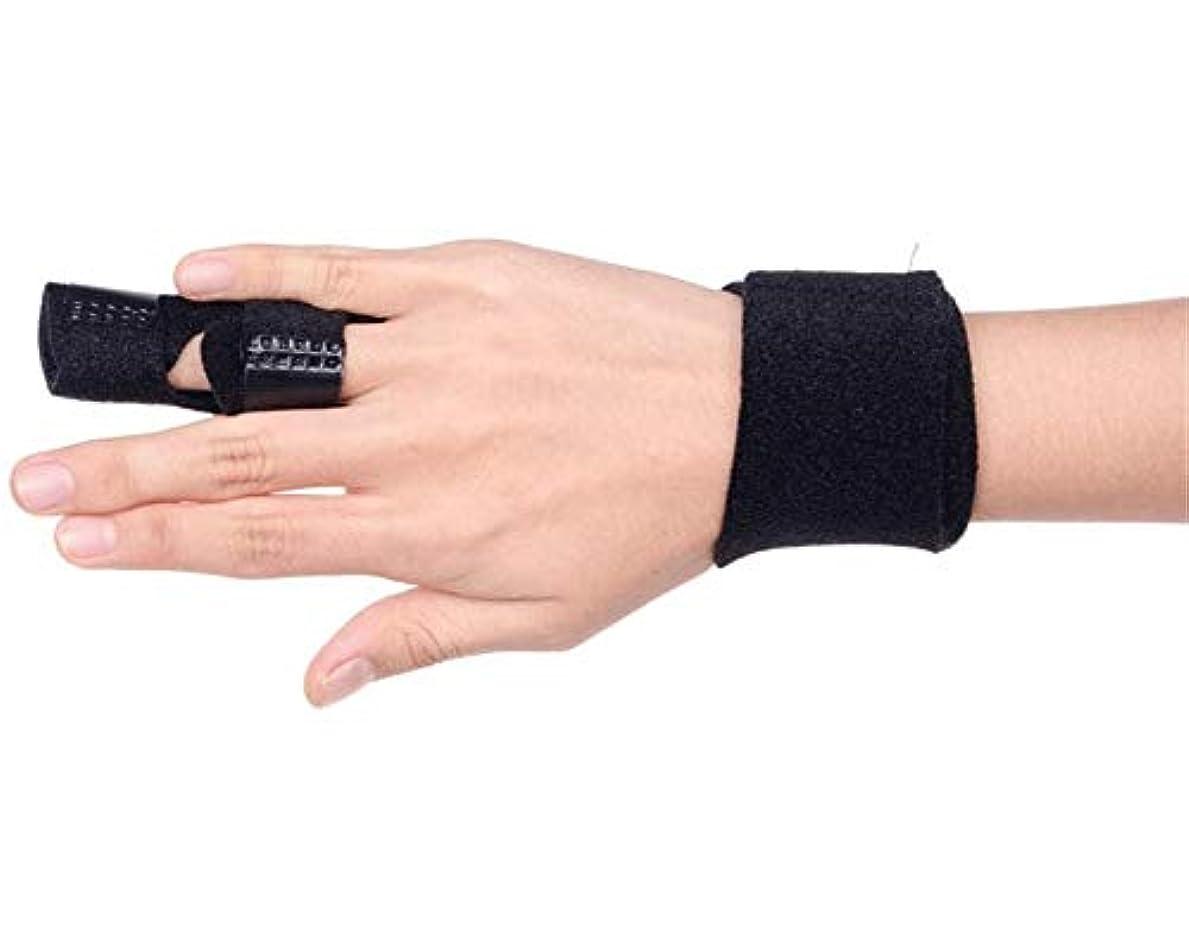 パイロット相互接続宝石調節可能な定着ベルトリリースし、痛みを軽減するFingerboardseparator - 中指、薬指、人差し指ブレースのためのフィンガースプリント-Fingerインソールフィンガースプリント