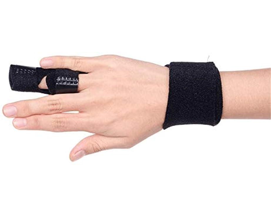 光沢羽調整可能調節可能な定着ベルトリリースし、痛みを軽減するFingerboardseparator - 中指、薬指、人差し指ブレースのためのフィンガースプリント-Fingerインソールフィンガースプリント