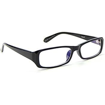 Cyxus(シクサズ)ブルーライトカットメガネ スクエア型 UVカット [透明レンズ] パソコン用 pcメガネ 輻射防止 視力保護 睡眠改善 眼精疲労低減に 男女兼用(ブラック)