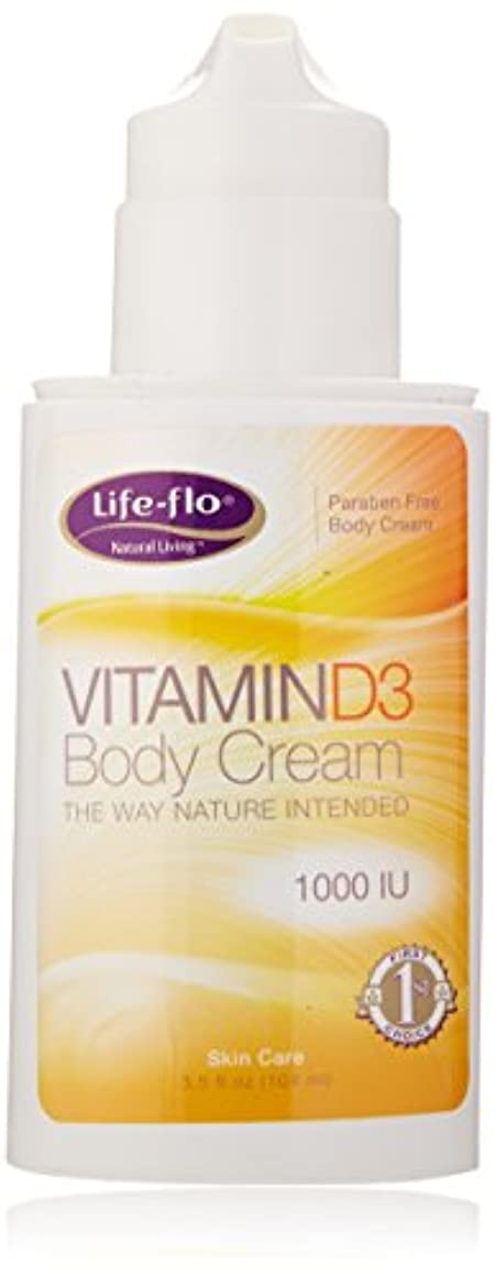 夕方満たす消去海外直送品 Life-Flo Vitamin D3 Body Cream, 4oz 1000IU