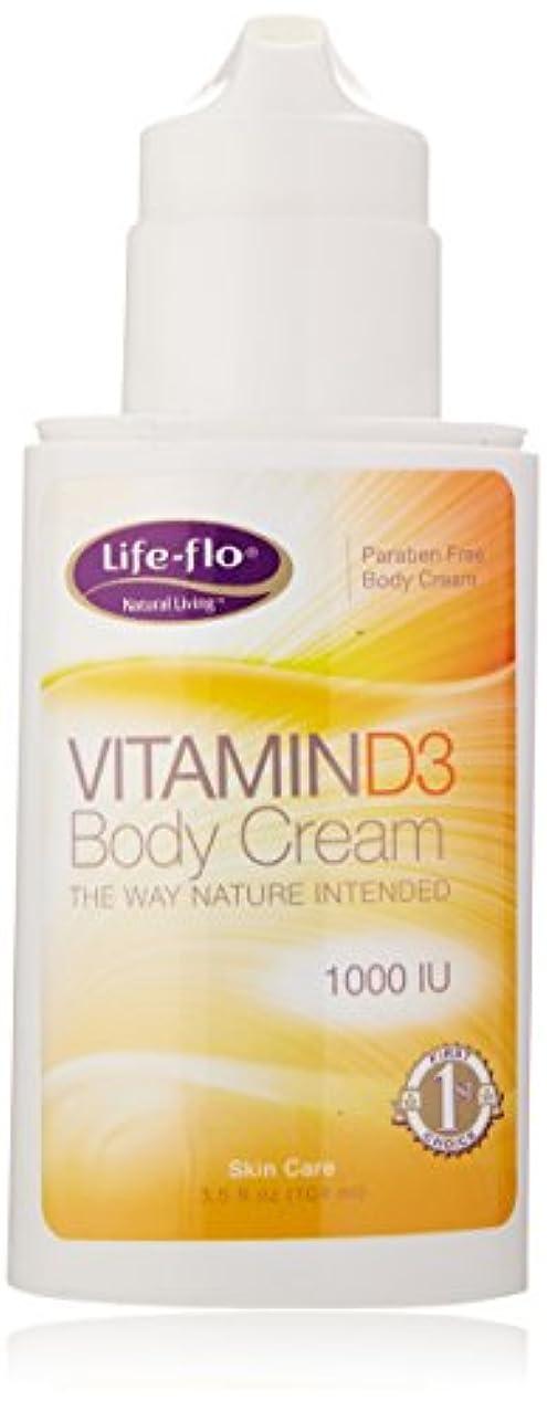 謎めいたではごきげんよう軽減する海外直送品 Life-Flo Vitamin D3 Body Cream, 4oz 1000IU