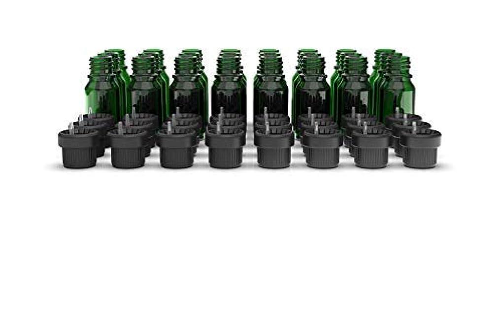 将来の本物の添付Two Scents Glass Bottles for Essential Oils - 10 mL Refillable Empty Bottle with Orifice Reducer Dropper and Cap...