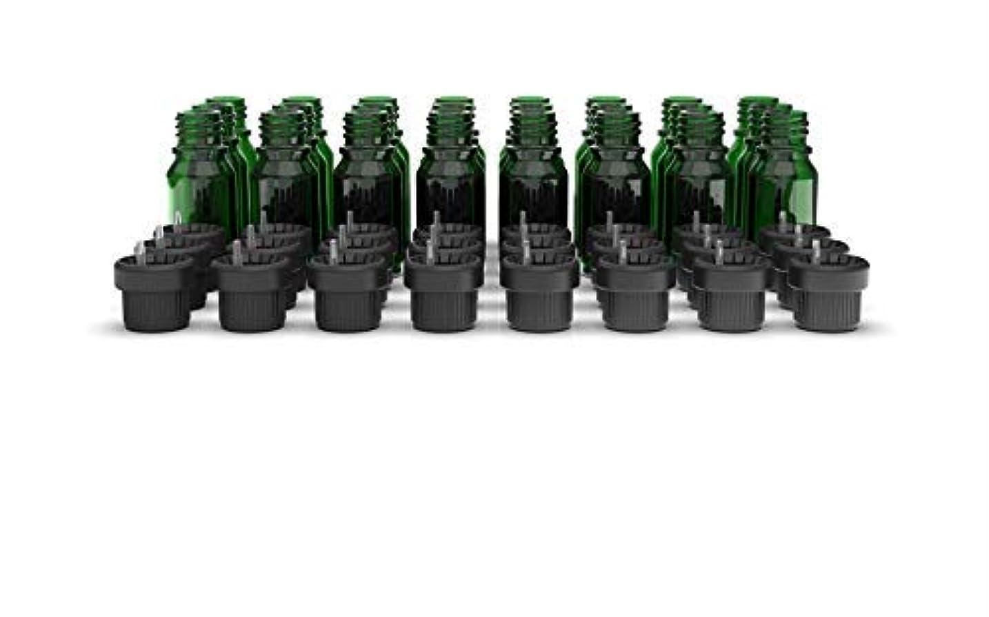 帆ラウズモンスターTwo Scents Glass Bottles for Essential Oils - 10 mL Refillable Empty Bottle with Orifice Reducer Dropper and Cap ? DIY Tool & Accessories for Aromatherapy ? Carrier Oil Kit - 25 Pack Emerald Green [並行輸入品]