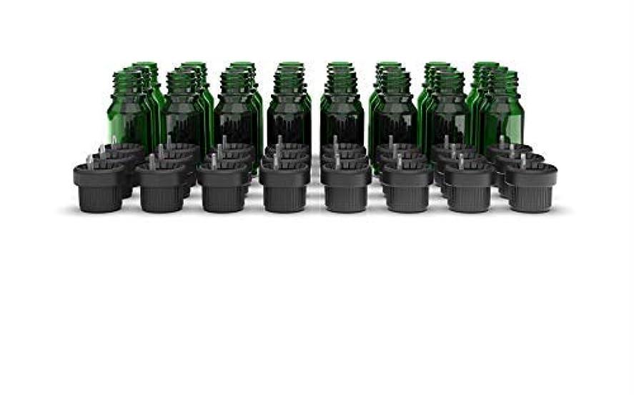 クローンシャベルのぞき見Two Scents Glass Bottles for Essential Oils - 10 mL Refillable Empty Bottle with Orifice Reducer Dropper and Cap...