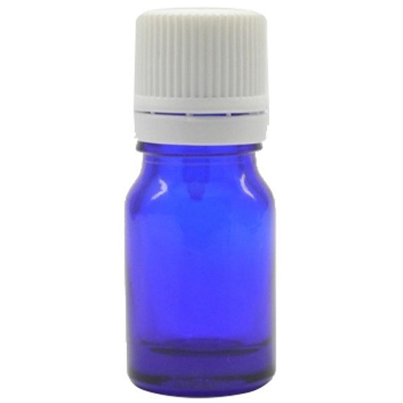 賠償部分的ながらアロマアンドライフ (K)ブルー瓶5mlドロップ栓白キャップ 3本セット