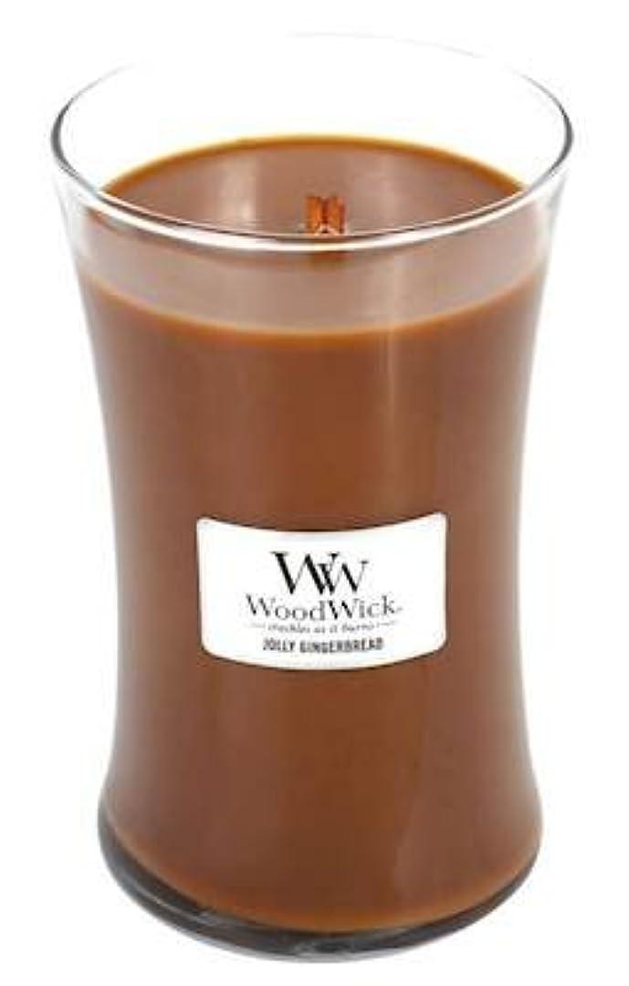 慣らす関税包囲Jolly Gingerbread – WoodWick 22oz Large Jar Candle Burns 180時間