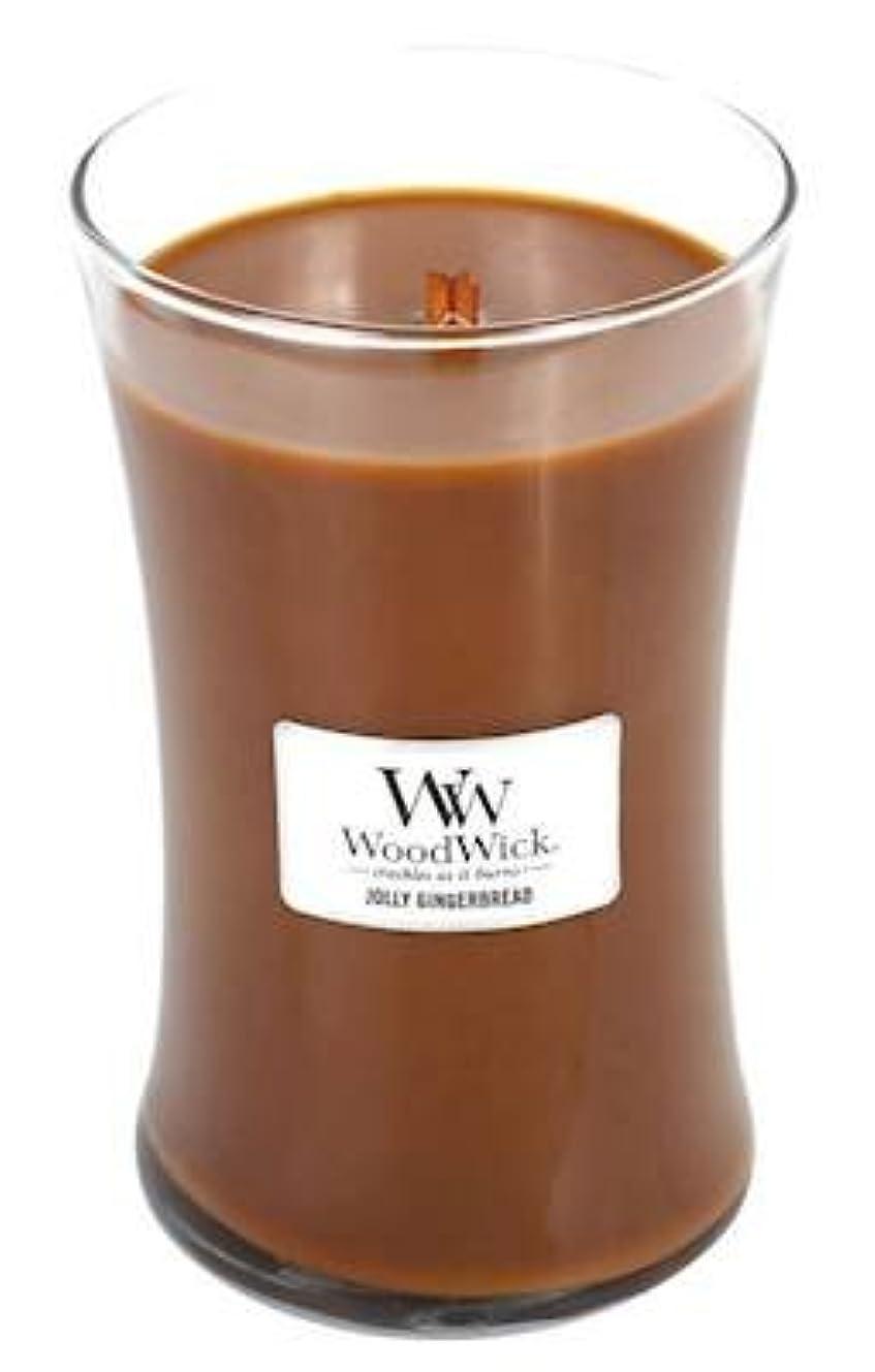 行き当たりばったりスペア敵意Jolly Gingerbread – WoodWick 22oz Large Jar Candle Burns 180時間