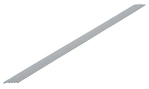 ウェーブ プラ材料 グレー 半丸棒 2.0mm 6本入 プラハンマルボウ2.0MM OM‐