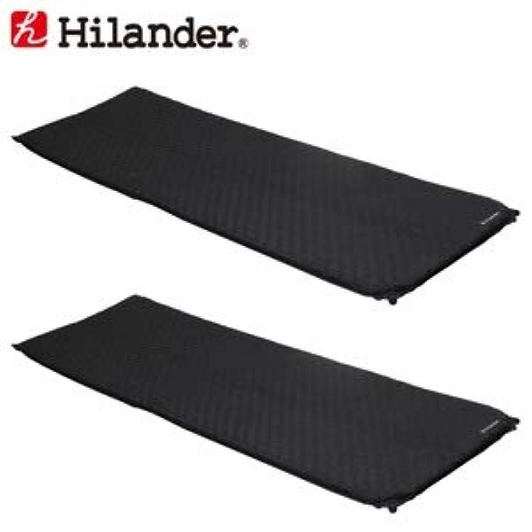 熟考するセラフコンパスHilander(ハイランダー) インフレーターマット(枕なしタイプ)3.5cm【お得な2点セット】 ブラック