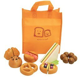マザーガーデン Mother garden 木のおままごと サクッとパンセット 7種類のパン+バッグ付き