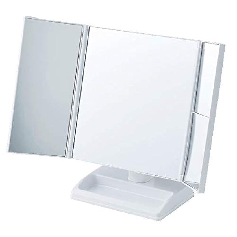 れんが従来のベルトテーブルで使う拡大鏡付三面ミラー