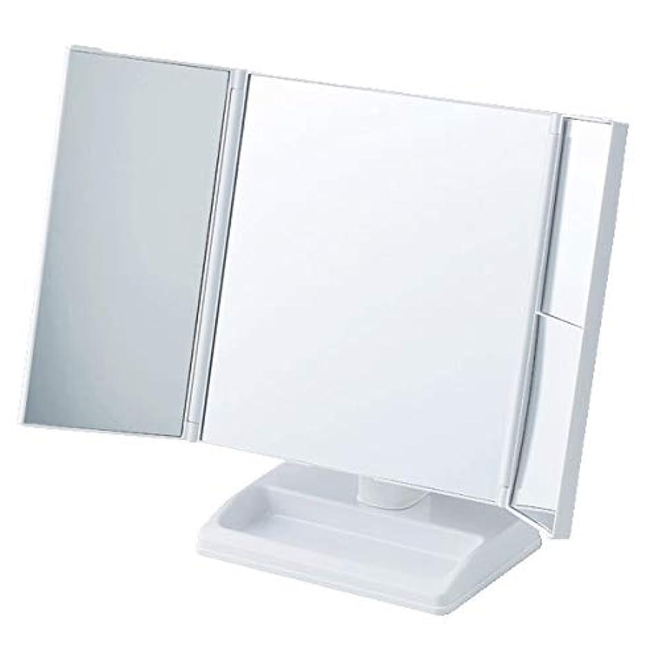 ファントムコールド料理をするテーブルで使う拡大鏡付三面ミラー