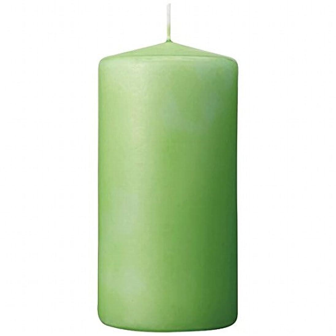 地球生き残りますスマートカメヤマキャンドル(kameyama candle) 3×6ベルトップピラーキャンドル 「 ライム 」