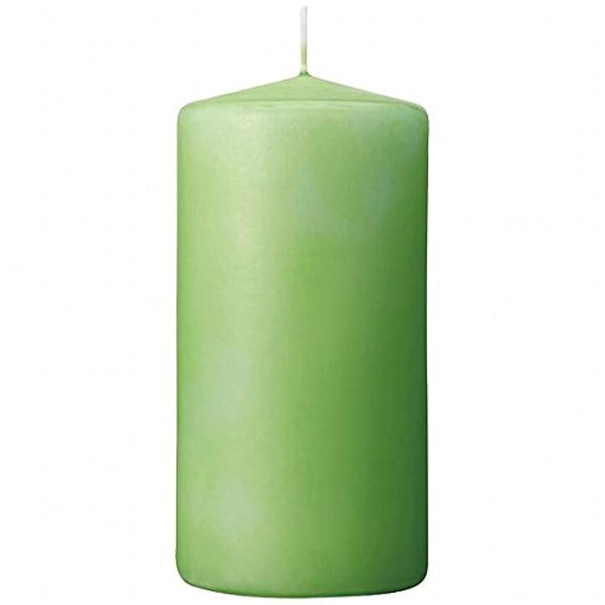 突進体韻カメヤマキャンドル(kameyama candle) 3×6ベルトップピラーキャンドル 「 ライム 」