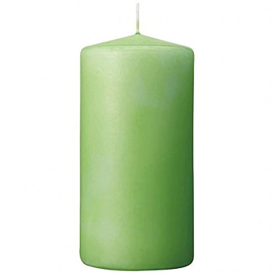 改善教室アストロラーベカメヤマキャンドル(kameyama candle) 3×6ベルトップピラーキャンドル 「 ライム 」