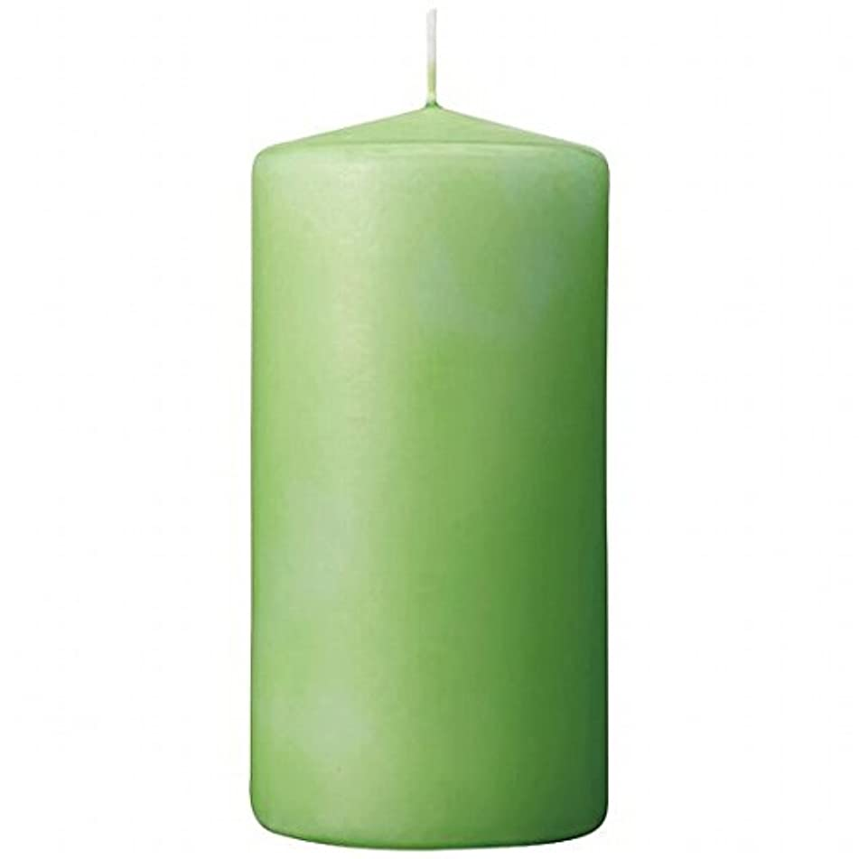 みがきますくトランスペアレントカメヤマキャンドル(kameyama candle) 3×6ベルトップピラーキャンドル 「 ライム 」