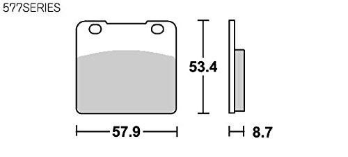 SBS ブレーキパッド 577HF セラミック GSX-R250/400/750/1100等 777-0577000