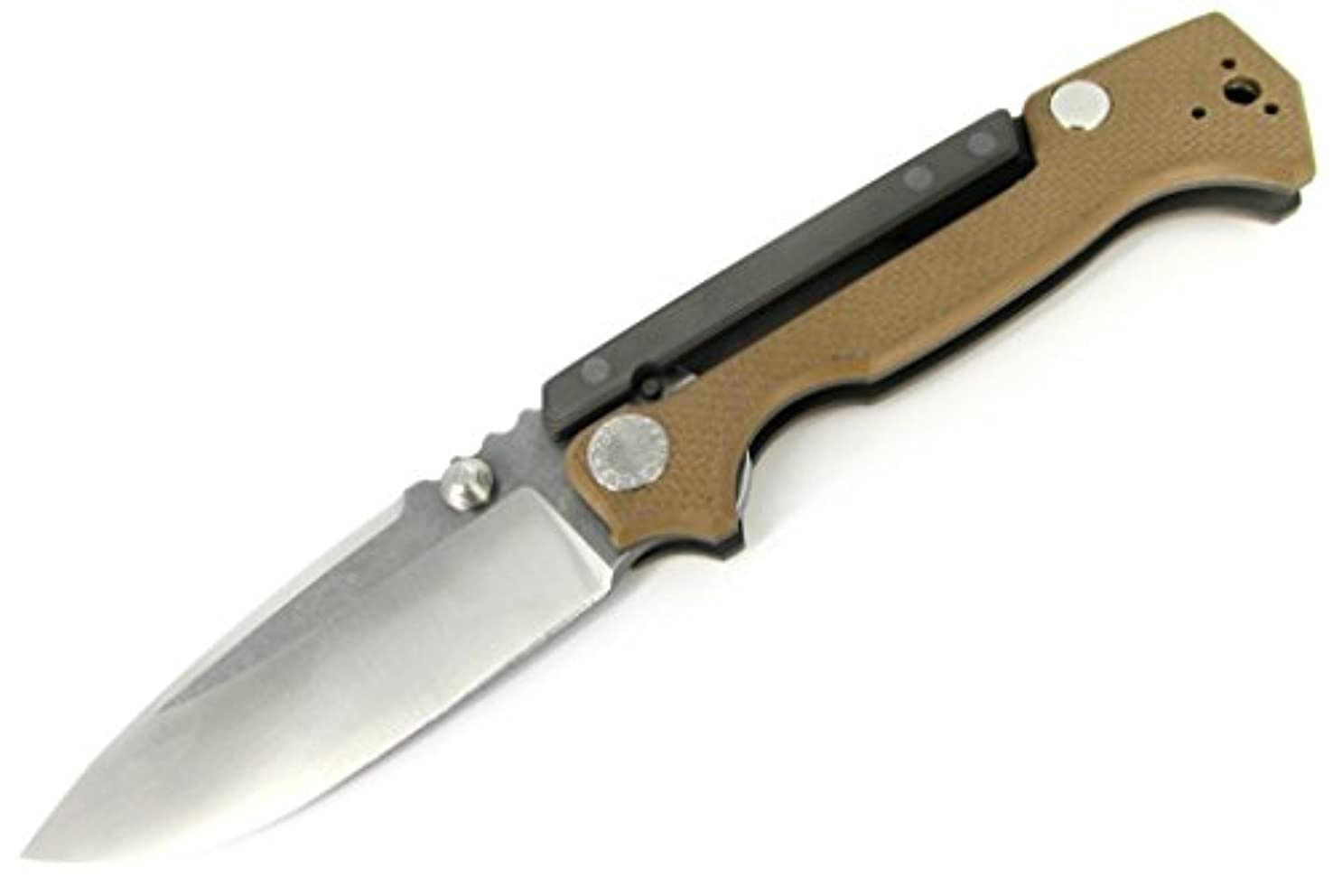 活発逃れるパースブラックボロウDemko Knives MG ad-15フォルダナイフタンg-10 Scales w / Full Ti Uppers新しいScorpionロック