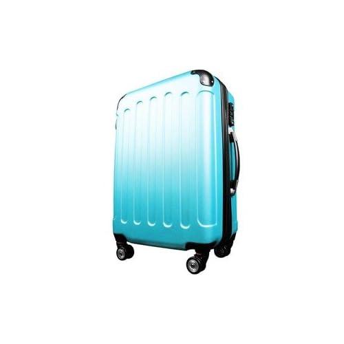 スーツケース/キャリーバッグ 【Lサイズ/大型7~14日】 TSA搭載 軽量 ファスナー ブルー(青) 生活用品 インテリア 雑貨 その他の生活雑貨 [並行輸入品]
