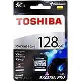 [TOSHIBA] 東芝 EXCERIA PRO UHS-1(U3)対応 Class10 SDXCカード 128GB 海外パッケージ THN-N401S1280A4