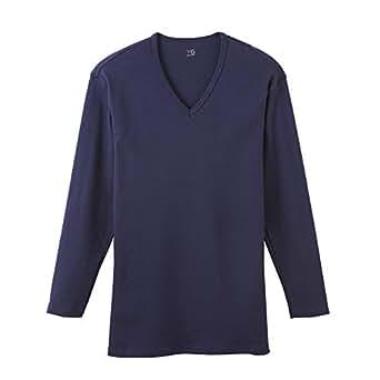 [グンゼ] インナーシャツ YG Cotton 100% シリーズ ダブルホット Vネック9分袖 YV0209N メンズ ネービーブルー 日本 L (日本サイズL相当)
