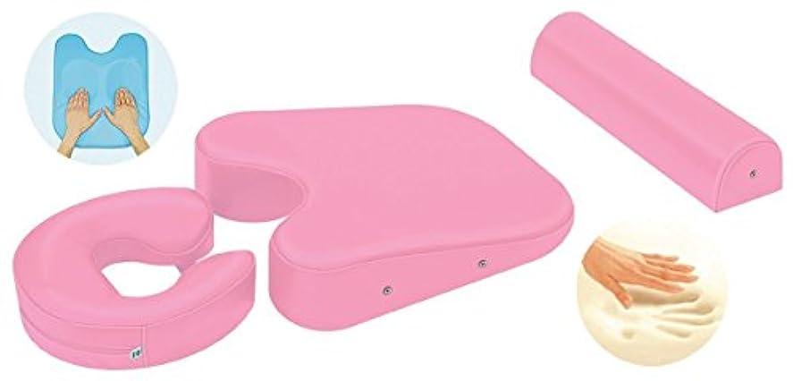 優雅系統的風刺低反発パーフェクトホールセット (ピンク)