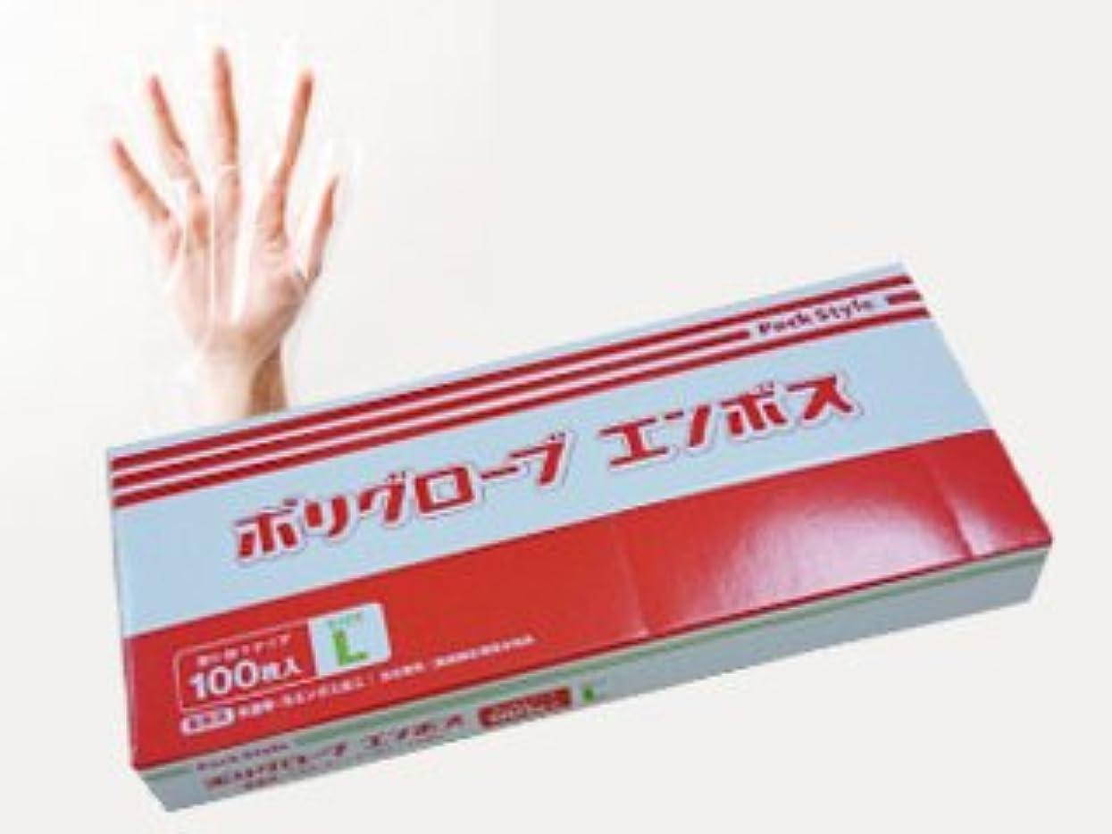 征服者警官疫病パックスタイル 使い捨て ポリ手袋 半透明 箱入 L 100枚 437323