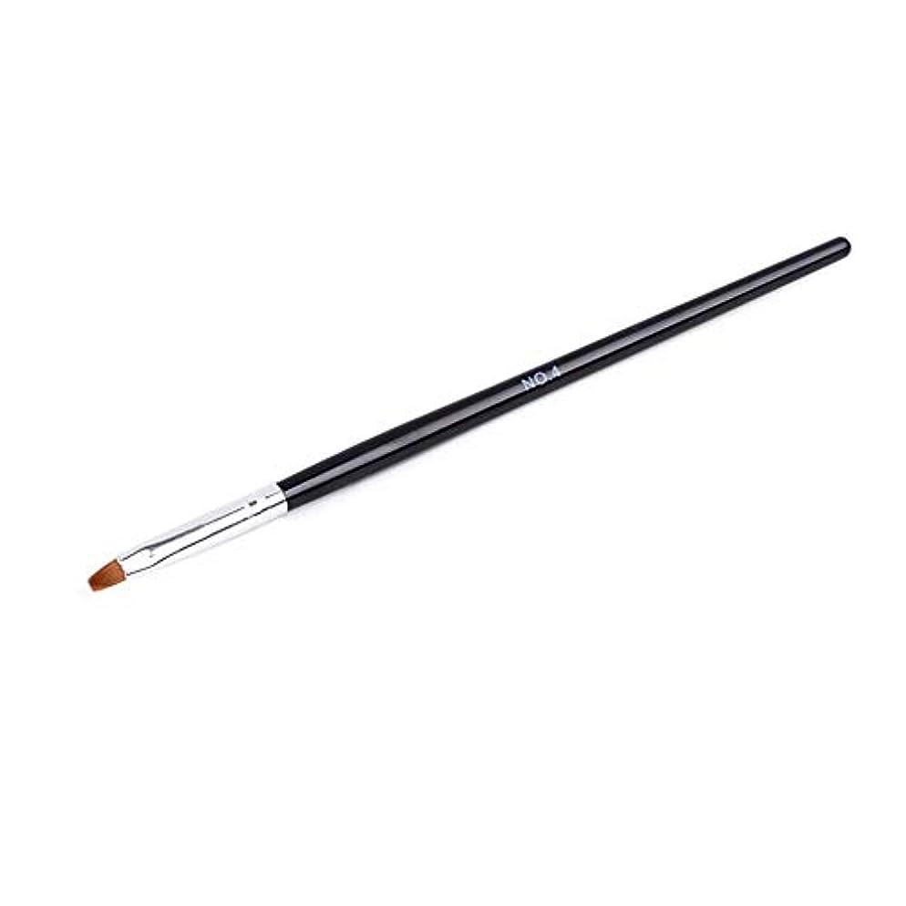 叫び声縮れた興奮するプロフェッショナルネイルジェルペインティングペンネイルラインブラシネイルペインティングペン絶妙なブラックハンドルネイル美容ツール(02)