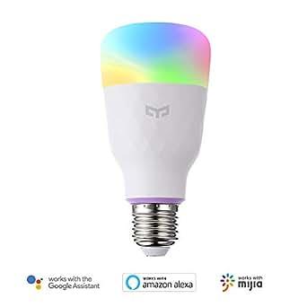 LEDスマート電球YeelightワイヤレスWiFiコントロールe2610Wホームライトthat Compatible with Alexa、Googleアシスタント、MIJIaなし、ハブ必要です。(1パック)