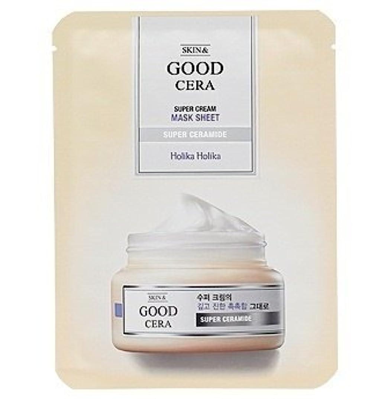 五十天気キウイホリカホリカ グッドセラ スーパークリーム マスクシート(3枚) Holika Holika Good Cera Super Cream Mask Sheet(3EA) [並行輸入品]