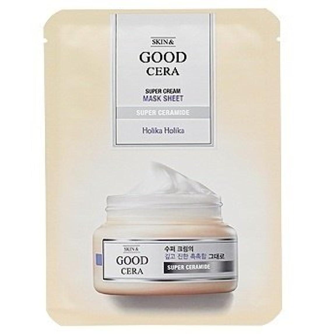 成熟したおんどりドナーホリカホリカ グッドセラ スーパークリーム マスクシート(3枚)Holika Holika Good Cera Super Cream Mask Sheet(3EA) [並行輸入品]