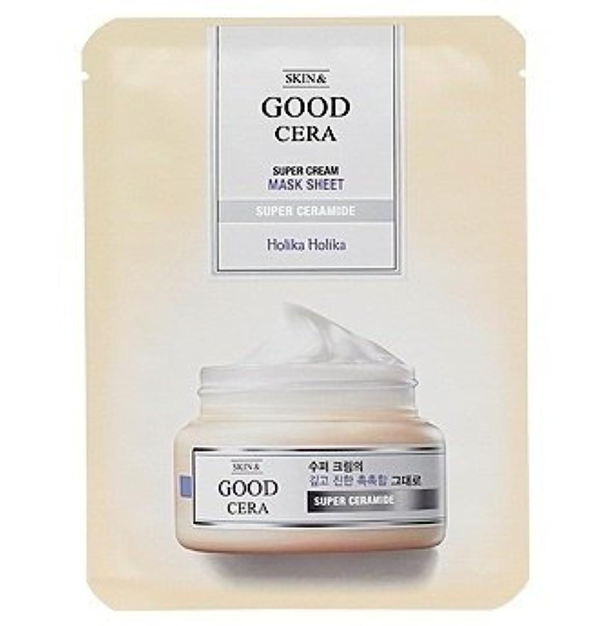 用心緑侵略ホリカホリカ グッドセラ スーパークリーム マスクシート(3枚) Holika Holika Good Cera Super Cream Mask Sheet(3EA) [並行輸入品]