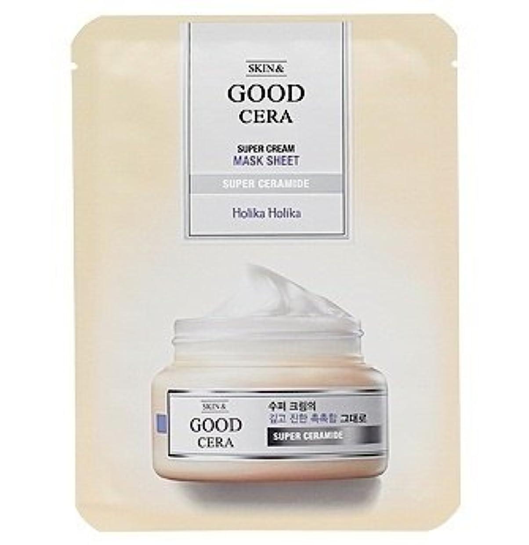 ナチュラ中性機動ホリカホリカ グッドセラ スーパークリーム マスクシート(3枚) Holika Holika Good Cera Super Cream Mask Sheet(3EA) [並行輸入品]