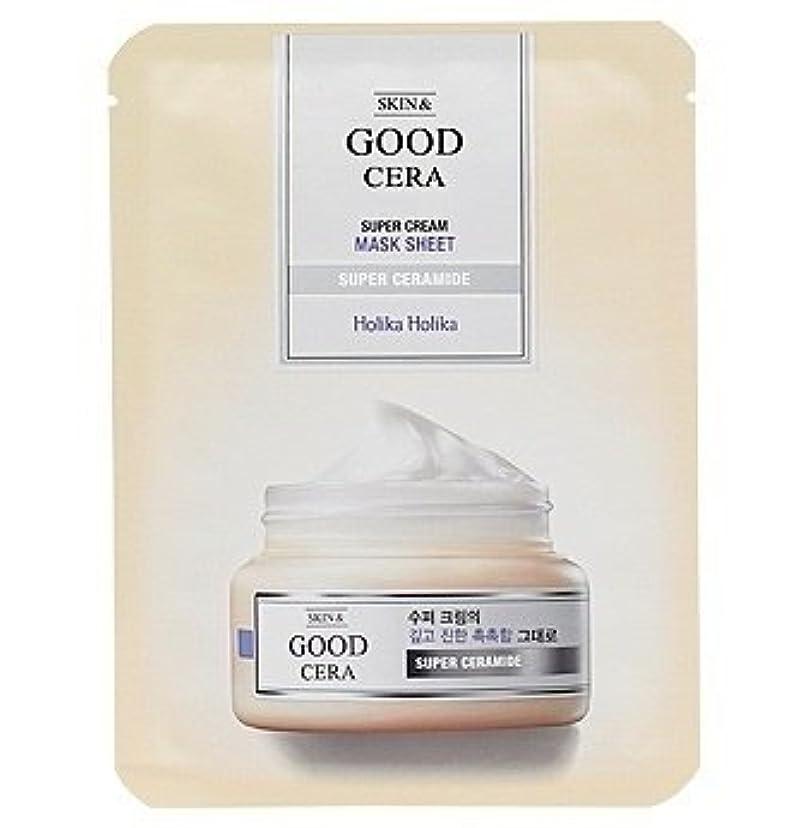 免疫原始的なタイプホリカホリカ グッドセラ スーパークリーム マスクシート(3枚)Holika Holika Good Cera Super Cream Mask Sheet(3EA) [並行輸入品]