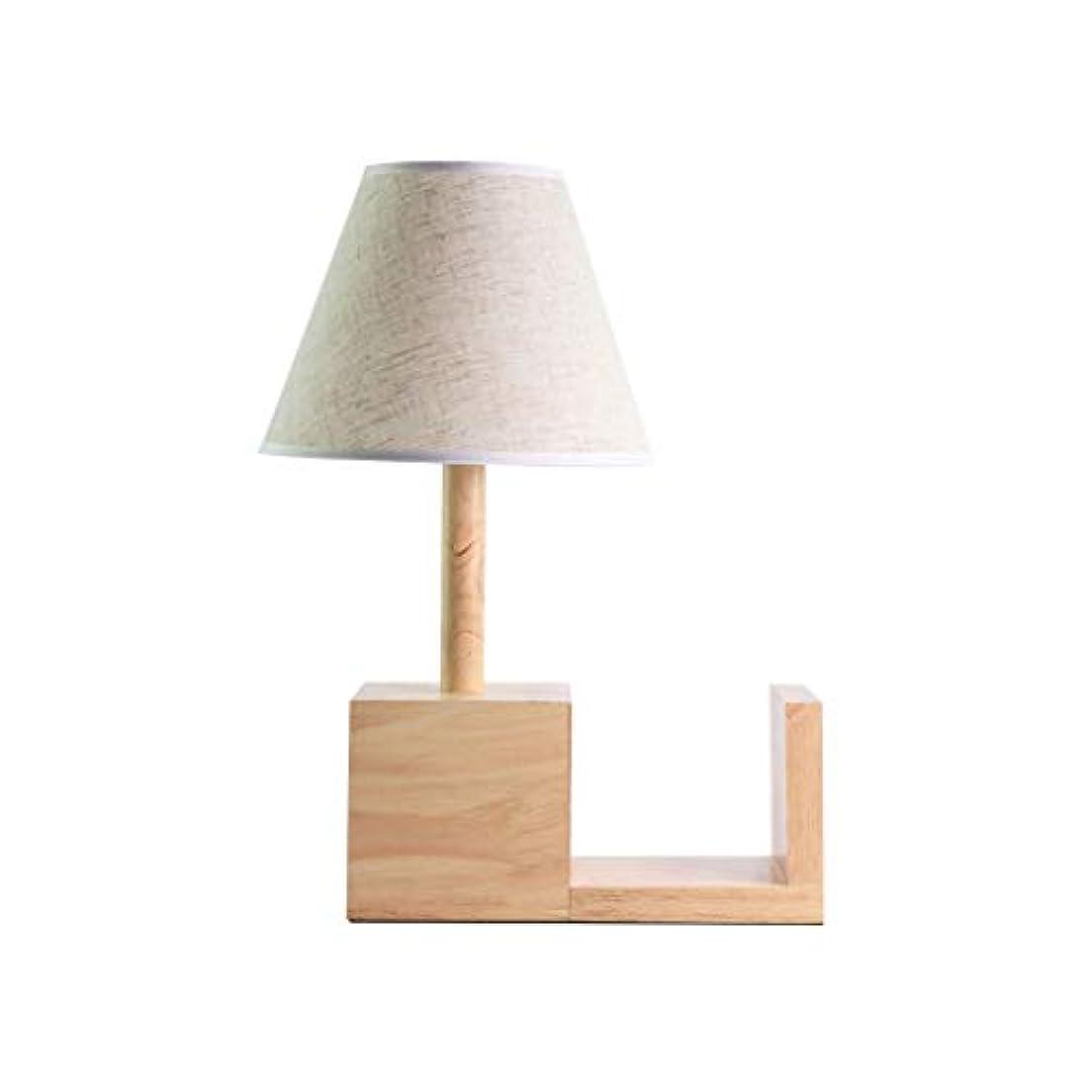 休憩綺麗な溝明るい 純木の電気スタンドテーブルランプの寝室のベッドサイドランプシンプルなクリエイティブロマンチックな電気スタンド 照明システム (Color : White)