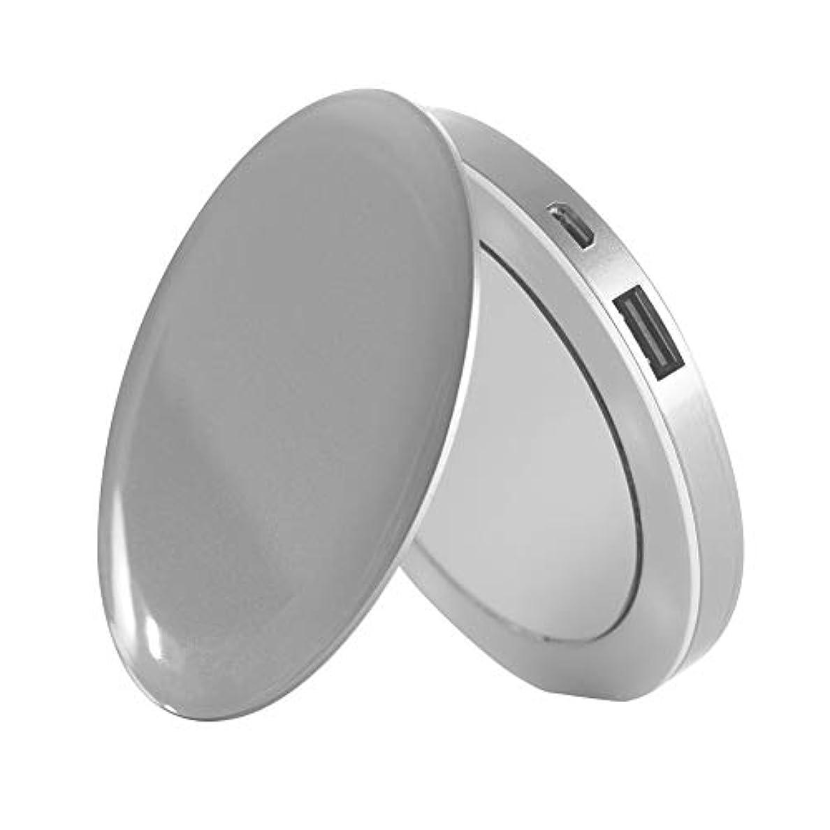 推測かすかな実り多いHYPER Pearl Compact Mirror [ パールシルバー ] コンパクトミラー&USBモバイルバッテリー