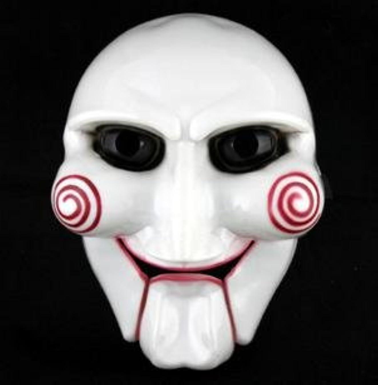 区画破壊的軍SAW ソウ ビリー人形風 マスク お面 ジグソウ キラー【コスプレ通販】イベントなどで活躍するコス。