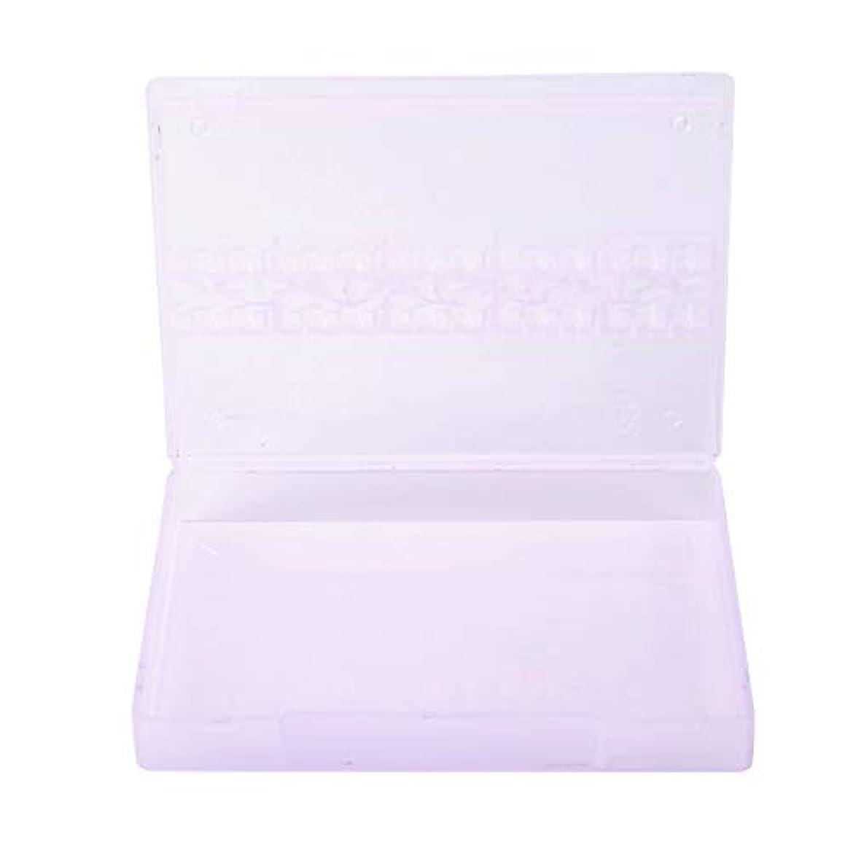 望まない拒絶無礼にストレージボックス、14グリッドネイルドリルビットストレージネイルアートネイルポリッシュヘッドディスプレイケースネイルツールコンテナ(紫の)
