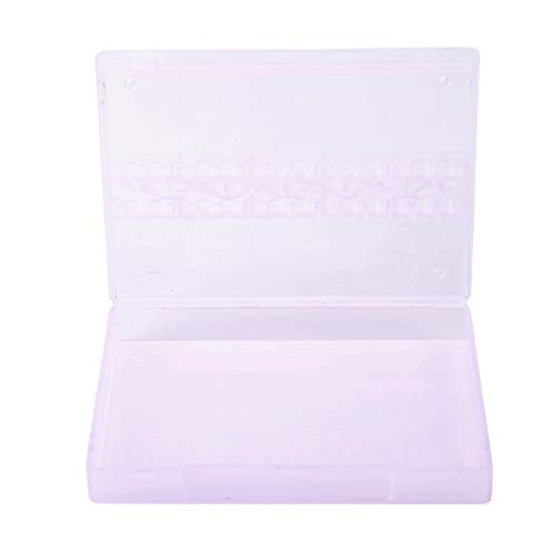 怒りサイズ下に14グリッド ネイルドリルビット 透明 プラスチック 収納ボックス ネイルポリッシュ ヘッドディスプレイ ケース ネイルツール コンテナー(01)