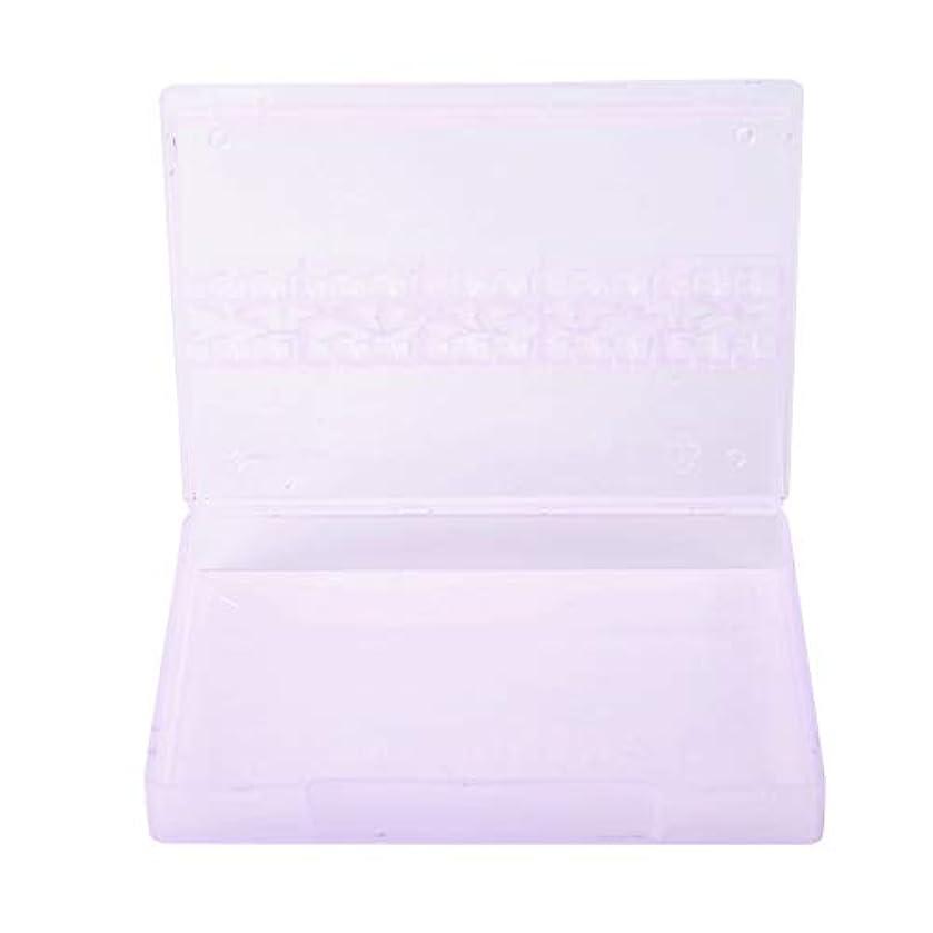 乱れ戸口栄光ストレージボックス、14グリッドネイルドリルビットストレージネイルアートネイルポリッシュヘッドディスプレイケースネイルツールコンテナ(紫の)