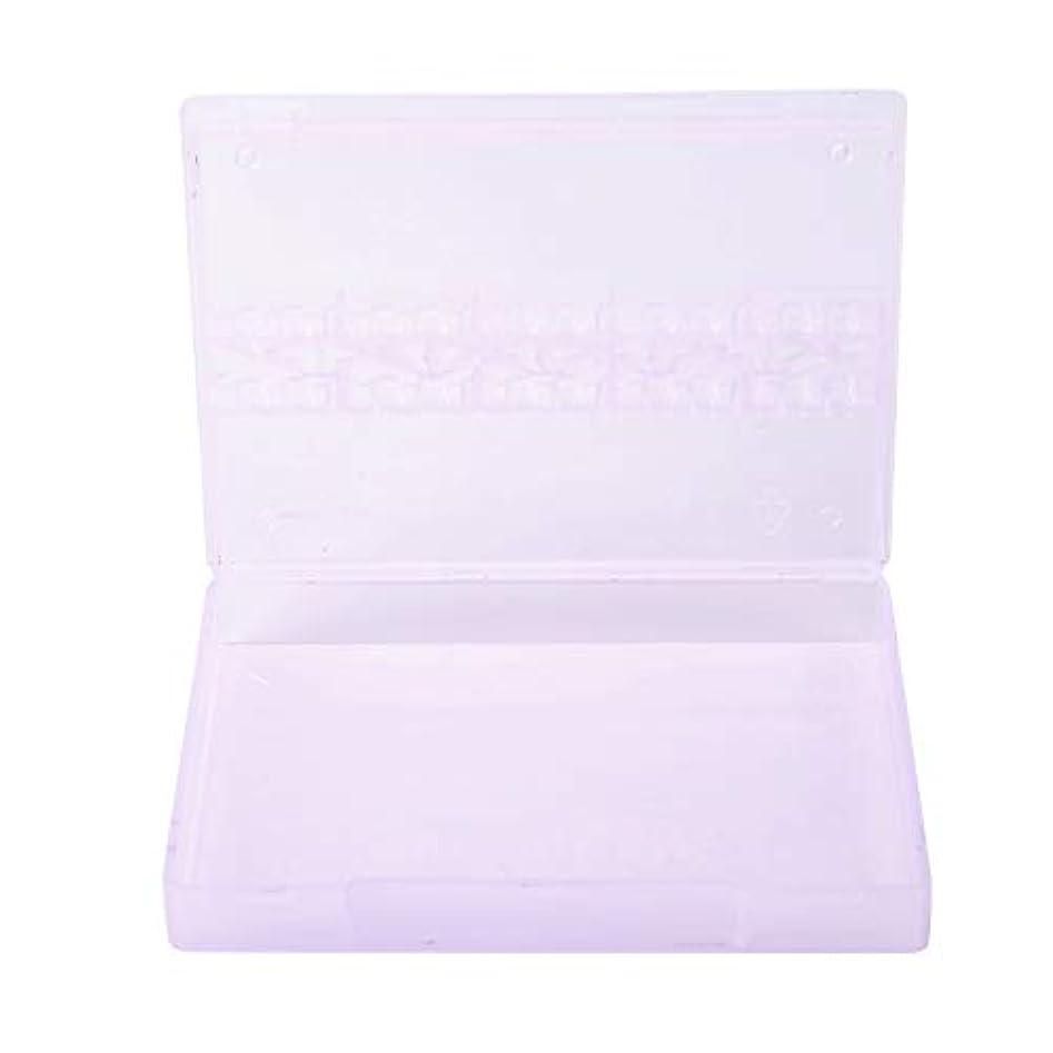 容赦ない発送予約ストレージボックス、14グリッドネイルドリルビットストレージネイルアートネイルポリッシュヘッドディスプレイケースネイルツールコンテナ(紫の)
